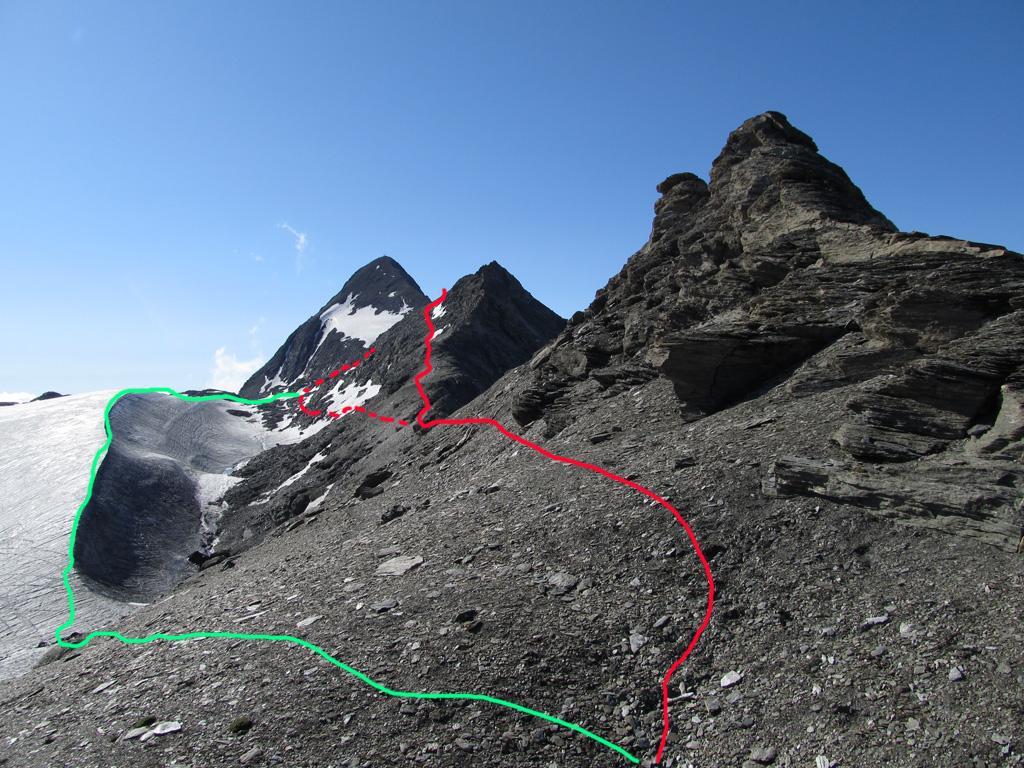 Rocciamelone da strada per Alpe Tour e il Rifugio Stellina e il Passo di Novalesa 2011-08-18