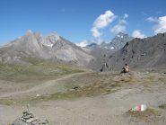 Da sinistra: Pan di Zucchero, Rocca Rossa, Pic d'Asti e Monviso dal Col de Chamussiere