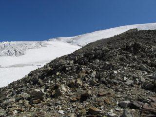 Col de la Division dove si pone piede sul ghiacciaio