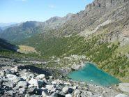 Lago Blu dalla morena salita per sbaglio