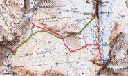 Cartina e itinerario di massima
