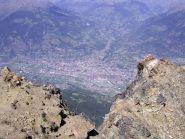 Balcone su Aosta