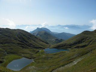 i laghi visti dalla cresta