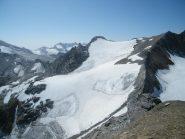 ghiacciaio del carro dalla cima d'oin