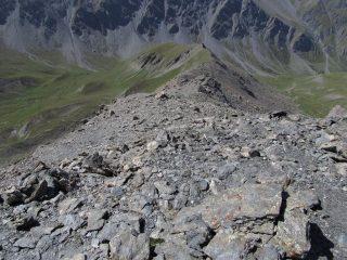 Cresta Ovest della Serpentiera, con traccia lato Thures