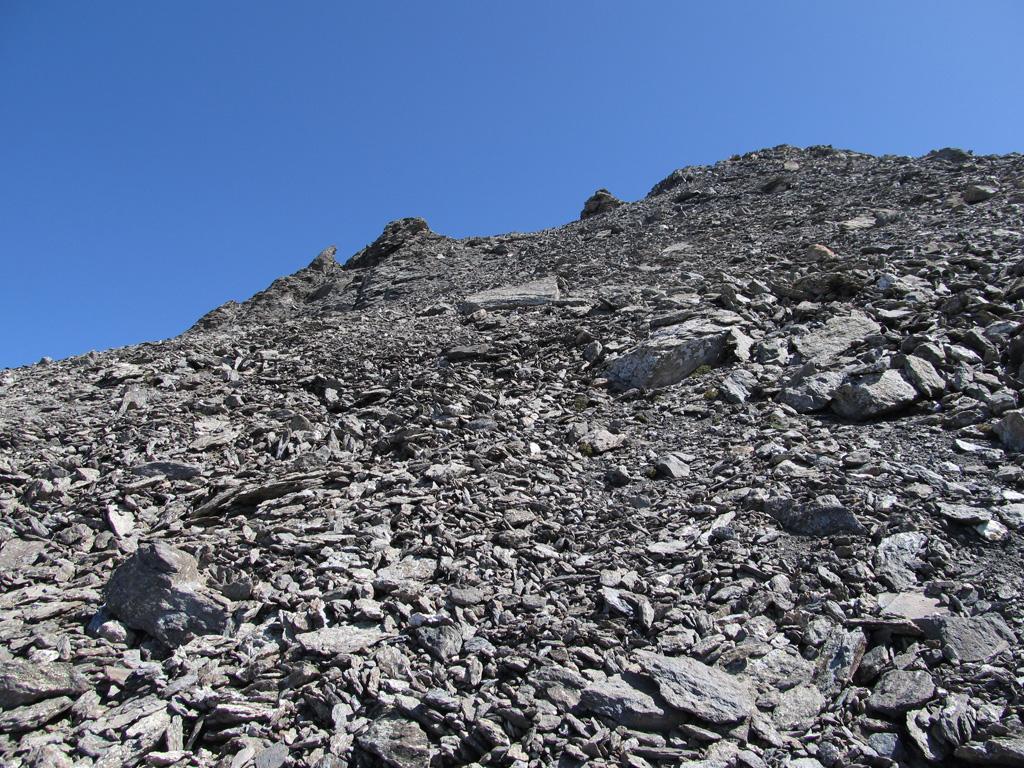Parte finale della pietraia