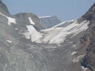 il colle della sassa con quel che resta del ghiacciaio