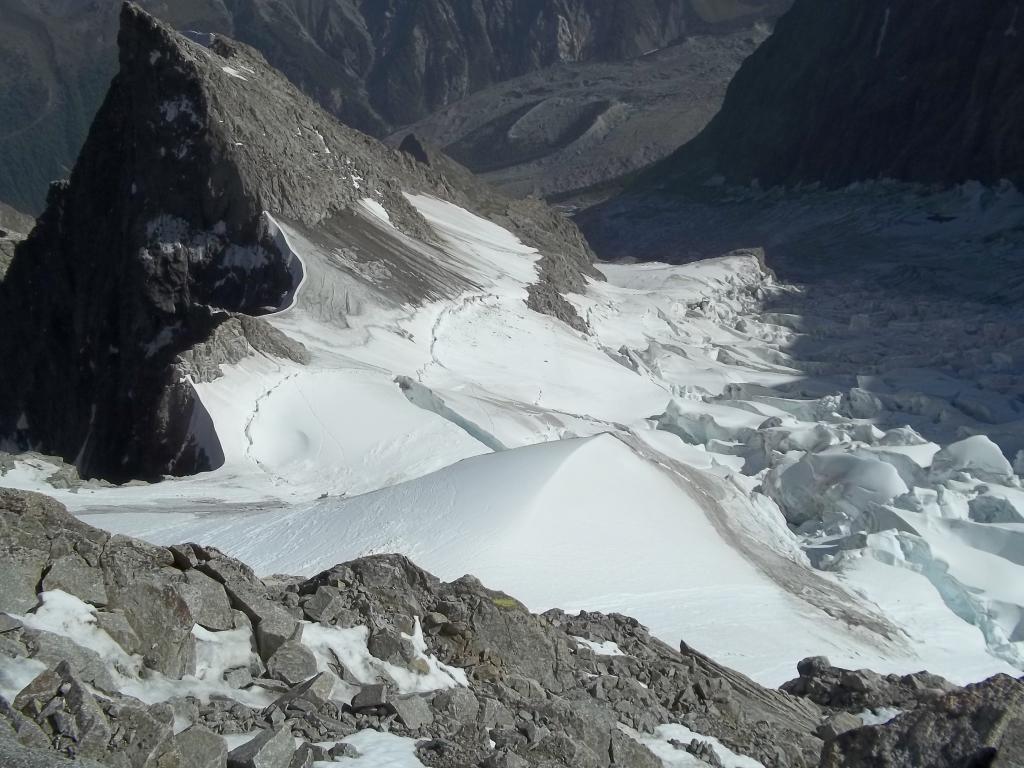 il ghiacciaio dal bivacco