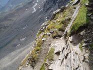 un tratto di sentiero attrezzato