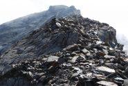 La cresta per il Paramont vista dal Colle di Usselettes