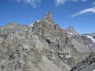 La parete e la cresta del Becco viste dal Blanc Giuir
