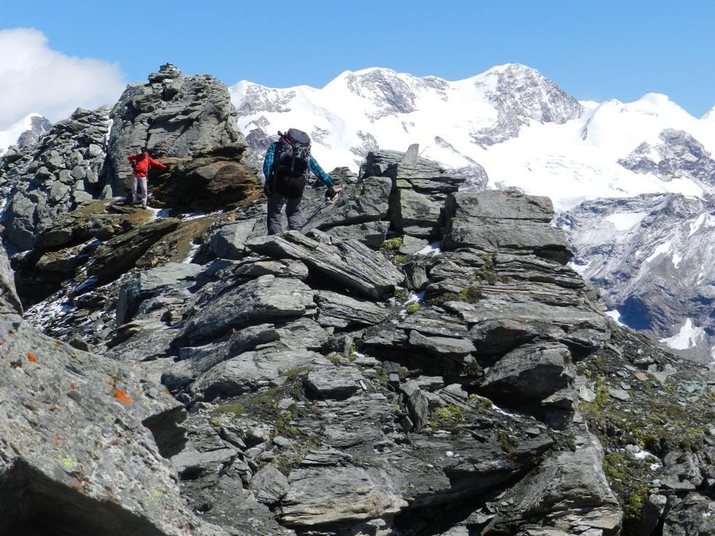 In cresta poco prima della cima