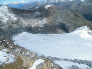 ghiacciaio sotto il taou blanc