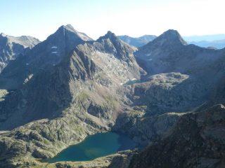 Laghi di Valscura visti dalla cima