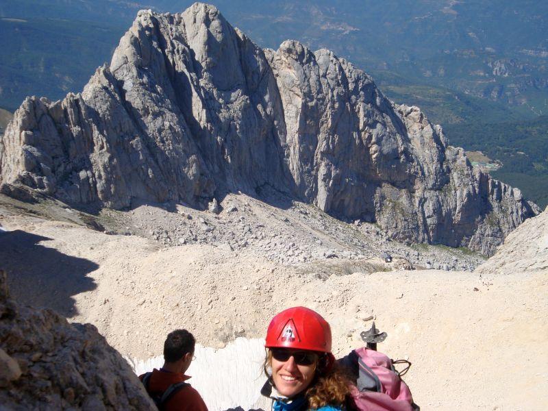 Corno Grande - Vette Orientale e Centrale Traversata per Ferrata Ricci e Via Gualerzi 2011-08-28