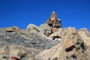 l'ometto di vetta sulla cima dell'Aiguille de l'Epaisseur (28-8-2011)