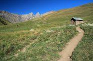 il comodo sentiero che sale a mezzacosta verso il rifugio (28-8-2011)