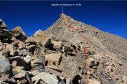 l'ultimo tratto della via di salita, visto dall'anticima (28-8-2011)