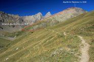 la via di salita per raggiungere il rifugio e la cima (28-8-2011)