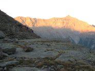 tramonto sul Roccia  a sin Capanna Vacca