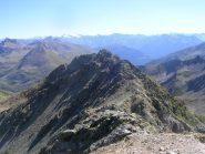 La cresta est vista dalla cima
