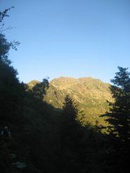 punta Sivella all'alba ripresa prima dell'alpe Vasnera