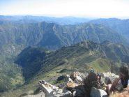 una piccola porzione del panorama di oggi (sulla Valsesia), dalla vetta