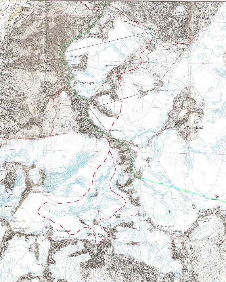 Wildspitze per il Mittelbergjochl e il versante Ovest 2011-09-02