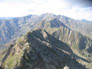 Panorama dalla vetta verso le cime della Valchiusella