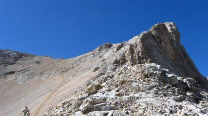 Ghiaione dopo la balza rocciosa
