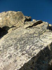 Buona roccia nella prima sezione