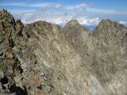 Lo sguardo verso la cresta Nord a destra il monte Stella