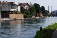 Il Naviglio Grande a Turbigo, con le case sulla sponda