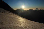una spettacolare alba sull'Hohbalmgletscher (11-9-2011)