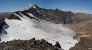 06 - panoramica Glacier Glairretta e Grande Sassiere, sullo sfondo il Monte Bianco