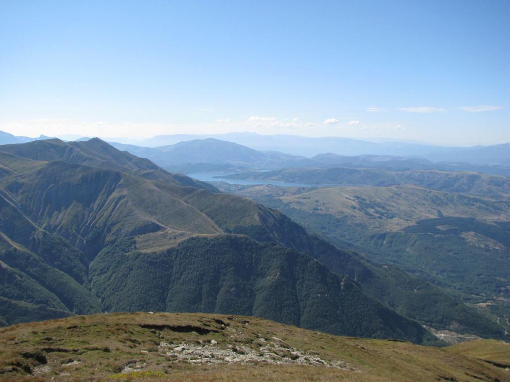 Panorama sul Lago di Campotosto