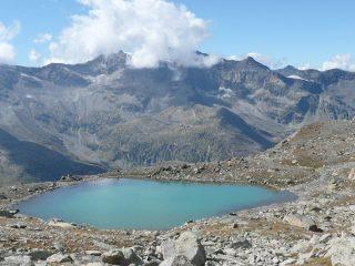 Il lago incontrato durante la mia discesa