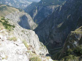 La profonda Valle di Selva Romana