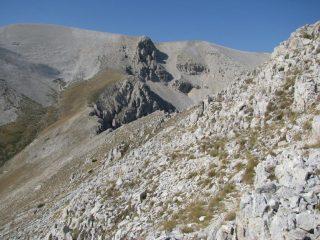 Percorrendo la cresta sud-ovest delle Murelle
