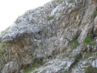 La costola rocciosa appena superata