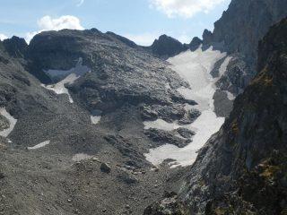 dalla vetta, vista sul Ghiacciaio del Clapier