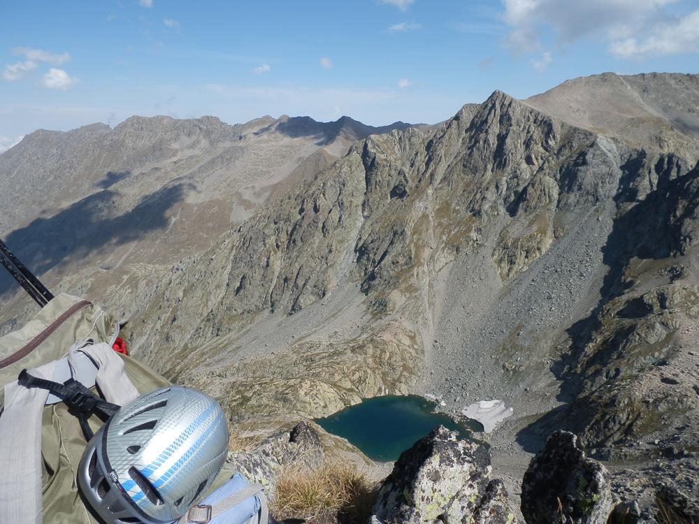 dalla vetta, Cima dell'Agnel e Lago Bianco Agnel