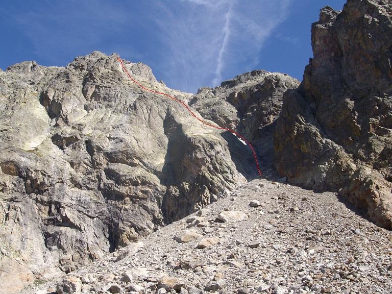 Inizio via arrampicata