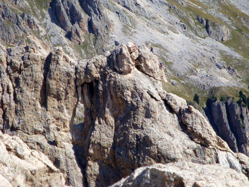 Alcuni alpinisti sulla normale del Croz di s. Giuliana