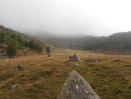 01 - da questo pianoro (Quota 2050) inizia l'ottimo sentiero a pendenza costante fino al passo Clopacà