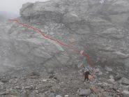 09 - si attraversa un ruscello in mezzo alle morene dell'ex-ghiacciaio
