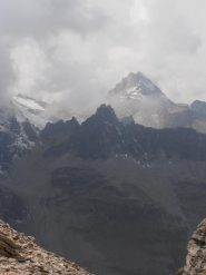 15 - dal colle vista su Grand Cordonnier, Rognosa d'Etiache e ghiacciaio del Sommeiller