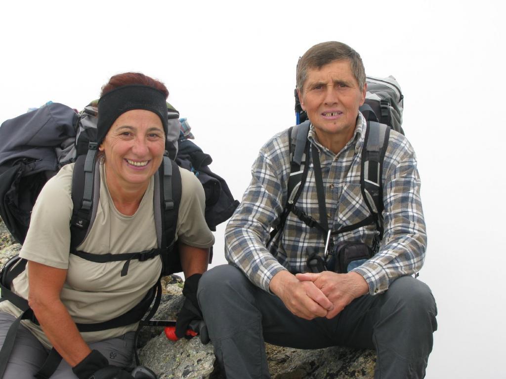 Con Ines alla Punta Rocchetta