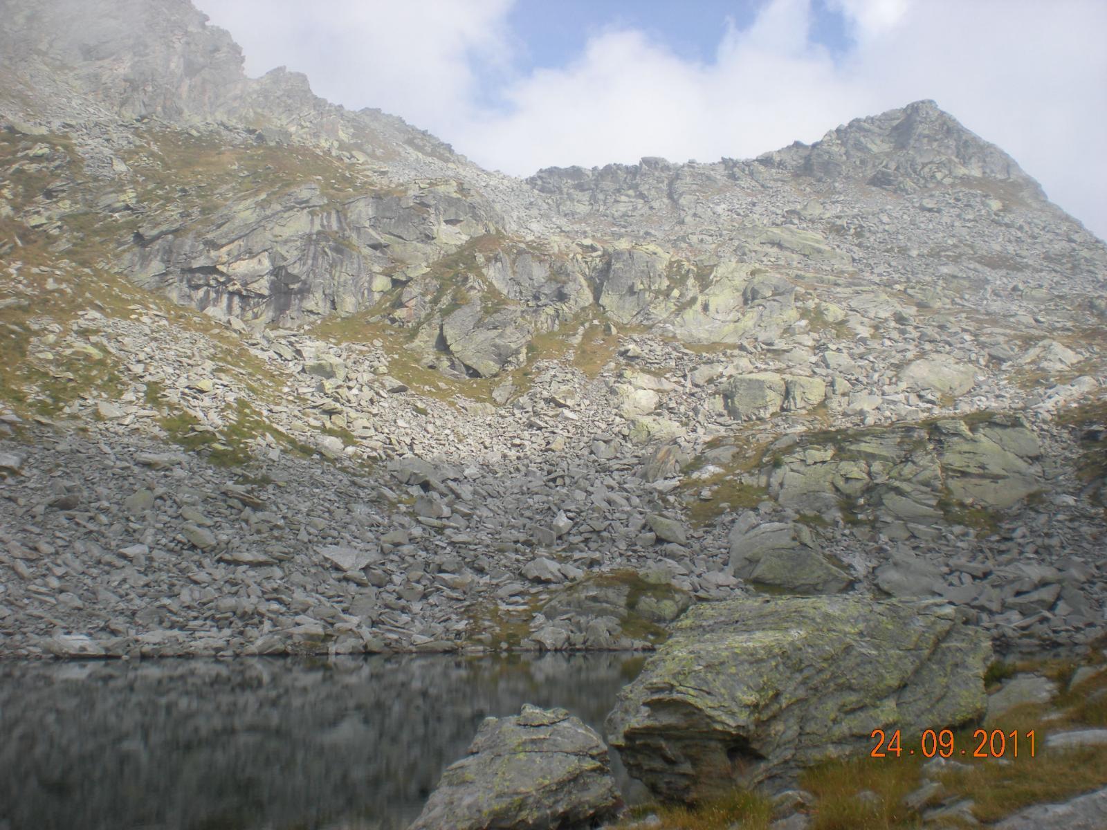 il laghetto Zuckie e la punta Lazoney