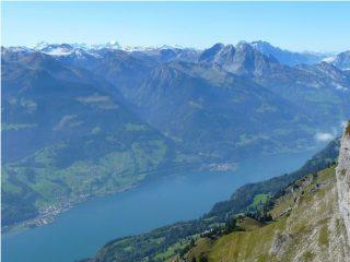 vista sulle Glarner Alpen ed il Walensee
